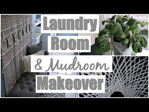 Laundry Room Makeover and Mudroom Ideas | New Home Decor