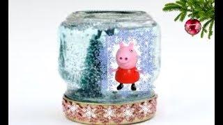 Снежный Шар Новогодние  Детские Поделки Своими Руками Видео / Идеи Подарков на Новый год детям