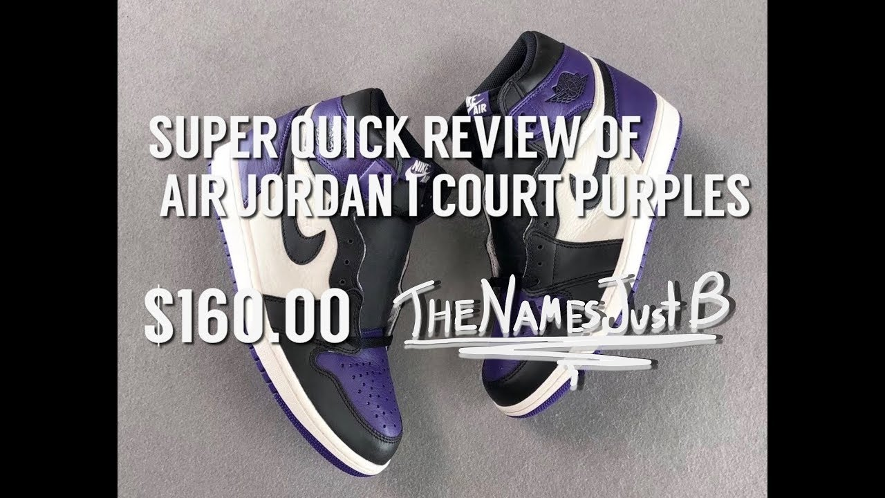 cd7594fe1bf3 SUPER QUICK VIEW OF AIR JORDAN 1 COURT PURPLES - YouTube