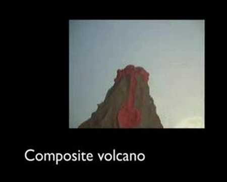 Volcano animation - YouTube