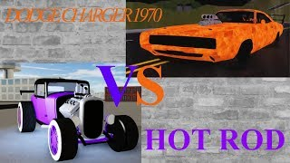 HOT ROD vs DODGE CHARGER 1970 (vehicle simulator roblox) | Cat Master!