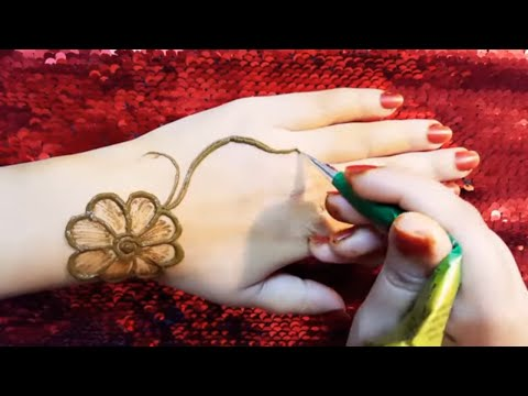 Simple and beautiful arabic Mehndi design tutorial thumbnail