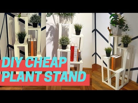 How to make plant stand with cardboard | DIY flower pot stand