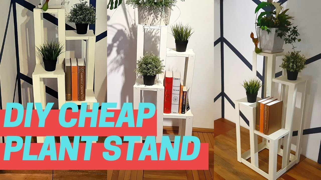How To Make Plant Stand With Cardboard Diy Flower Pot Stand Youtube