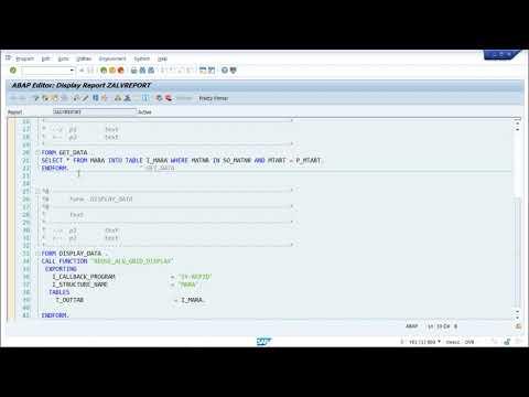 SAP ABAP - ALV Reports