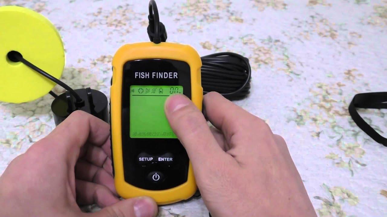 инструкция на эхолот fish finder