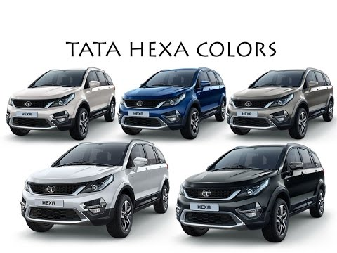 tata hexa in 5 colors youtube. Black Bedroom Furniture Sets. Home Design Ideas
