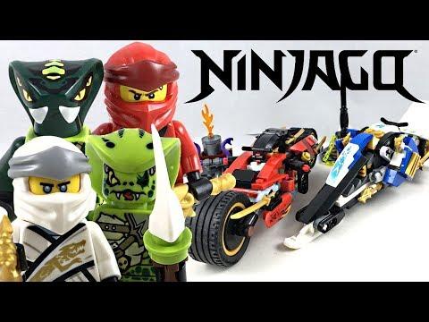 LEGO Ninjago Legacy Kai's Blade Cycle & Zane's Snowmobile review! 2019 set 70667!