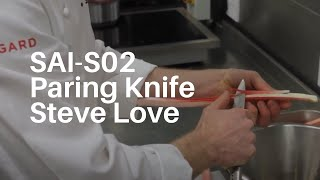 Steve Love Creates A Delicious Rhubarb Pudding With His Global Sai S-02 Paring Knife