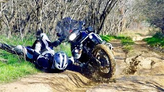 BMW 1200 GS crash - in mud during a drought.