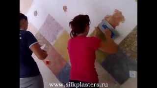 Мастер класс по нанесению жидких обоев Silk Plaster в Чехии