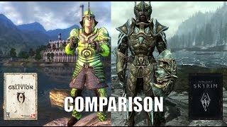 Oblivion vs. Skyrim Armor Comparison.