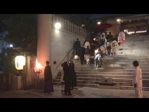 東京芝大神宮 幻想的なご結婚式かがり火挙式