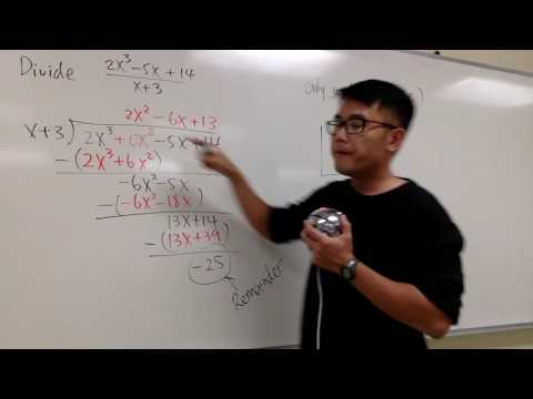 Long Division Of Polynomials Vs. Synthetic Division