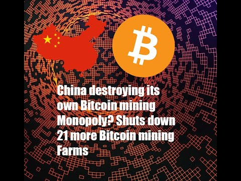 China is destroying its own Bitcoin mining monopoly? Does not seem bent on weaponizing BTC