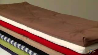 Deauville 45 X 16 Hunter Storage Bench Cushion - Product Review Video