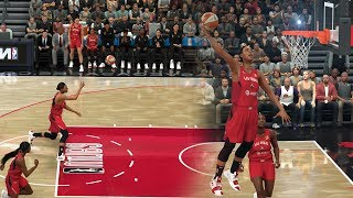 I Maxed Out The WNBA Dunking Sliders In NBA 2K20 And This Happened!
