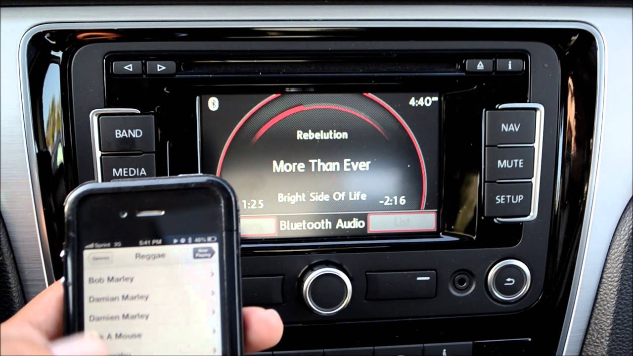 ... Stream Bluetooth Audio with the VW RNS315 Navigation Stereo - YouTube
