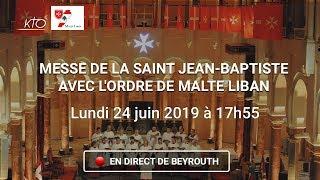 Messe de la saint Jean-Baptiste avec l'Ordre de Malte Liban, en direct de Beyrouth