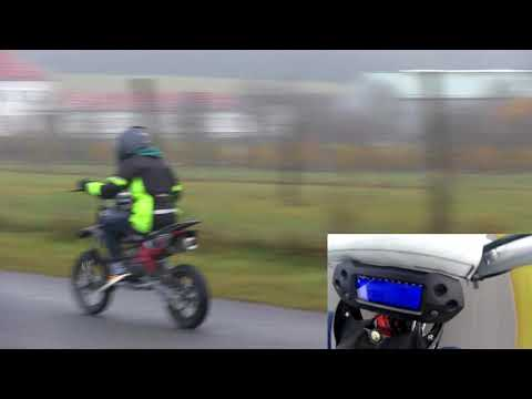 Dirt Bike - Pit Bike - Minimotocross #5 -  Tachometer - Speedtest - Koso MX DB-01R Digitalcockpit