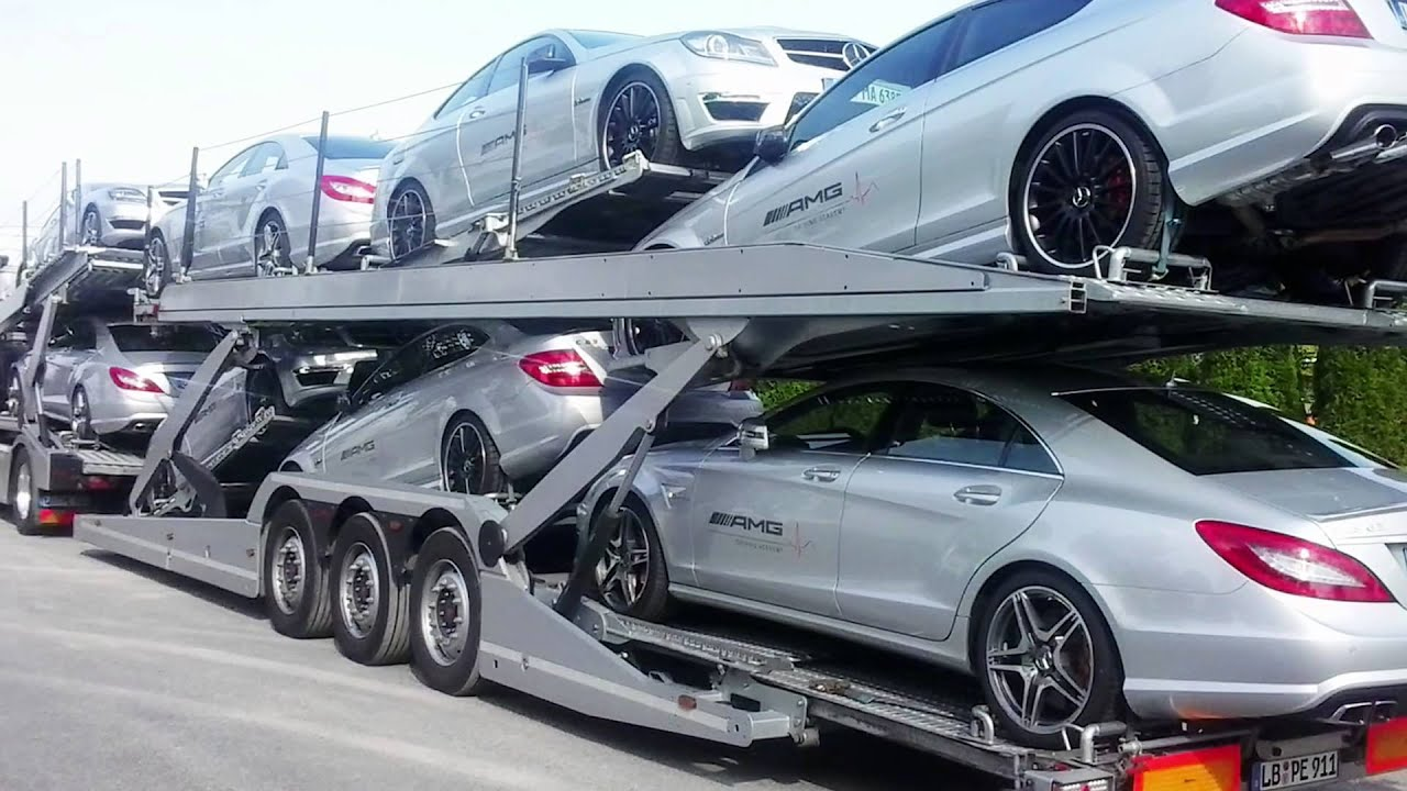 Porte voitures car carriers lohr youtube for Car carriage
