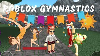 ROBLOX GYMNASTICS GAME!!! MAMMA CLAIRE AND HANNAH FAMILY FUN :-)