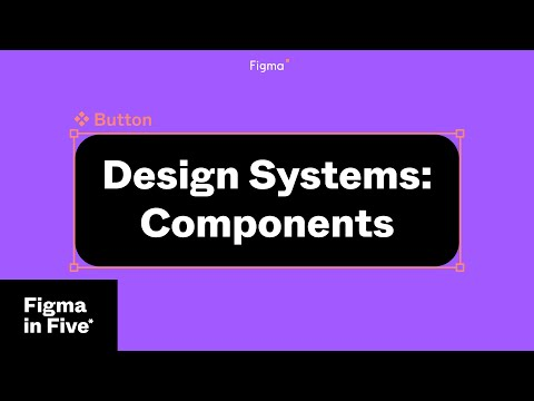 Figma in 5: Design Systems: Components