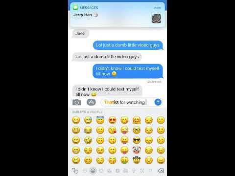 Texting myself on iOS 11?! 😂