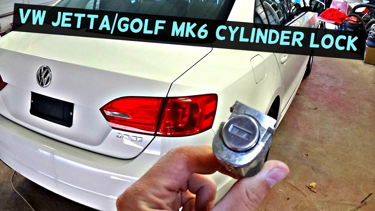 Vw Jetta Mk6 Door Lock Cylinder Removal Replacement Vw Golf Mk6 Youtube