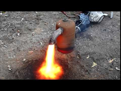 waste oil burner for scrapping construction and first fire up