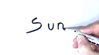 How to Turn Words Sun Into a Cartoon - Easy Tutorial for Kids