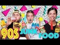 Trying CHILDHOOD SNACKS from the 90s | MUKBANG ft LAURA LEE & ERYN