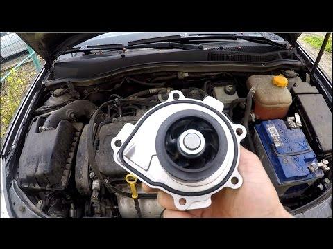 Замена помпы  Opel Astra H  Ecotec 1.8