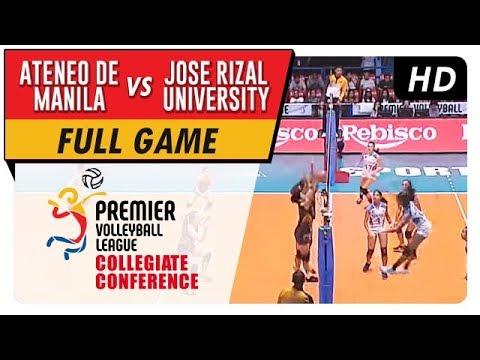 ADMU vs. JRU   PVL Season 2 Collegiate Conference   Full Game   1st Set   September 3, 2017