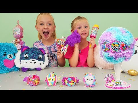 Opening New Cotton Candy Series Pikmi Flips! Pikmi Pops Surprise Toys!!