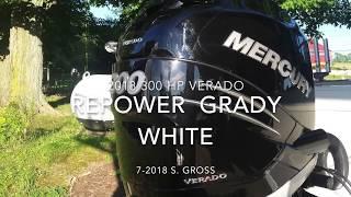 Mercury Verado 300 WOW!  On Grady White Seafarer!!!!  Vessel view explained too.