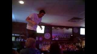 Seismic Urge - Fancy on the bar at Moonshiners 7-26-14 - Rick Schmitt dedication