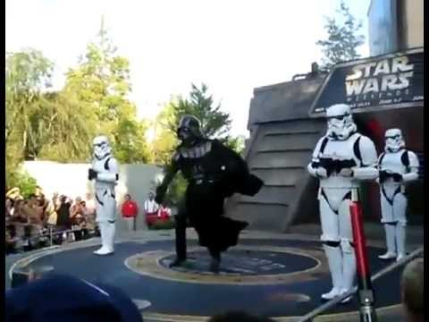 Darth Vader and Stormtroopers dance to MC Hammer  U Cant Touch This at Disney