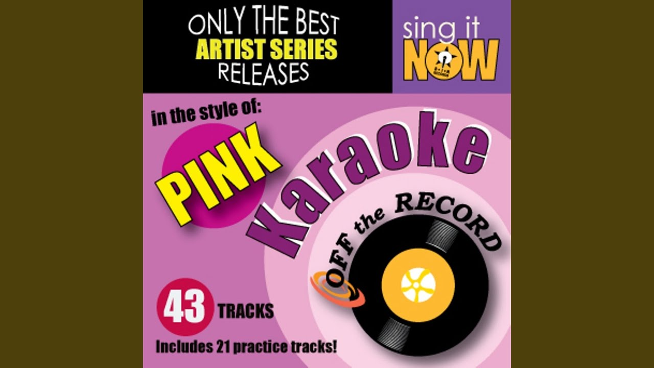 Download Glitter In The Air (In the style of Pink) (Karaoke Version with Lead Vocal)