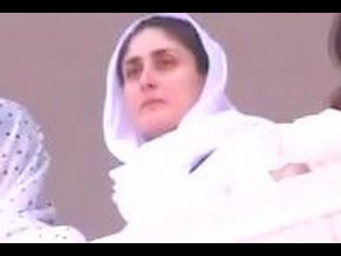 Saif Ali Khan & Kareena Kapoor at Tiger Pataudi's funeral