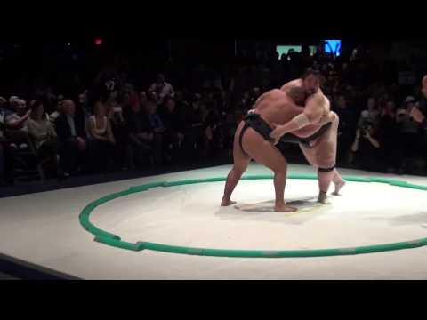 Two world class sumo wrestlers face off for charity at Stage AE
