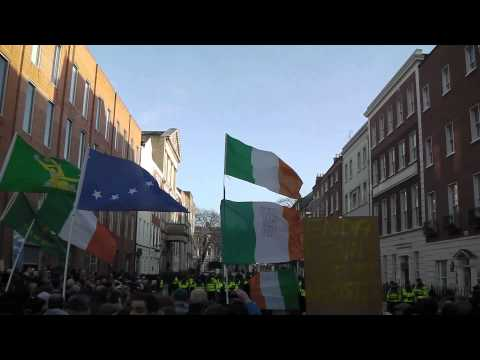 Irish Water Protests 10th December -  Leinster House