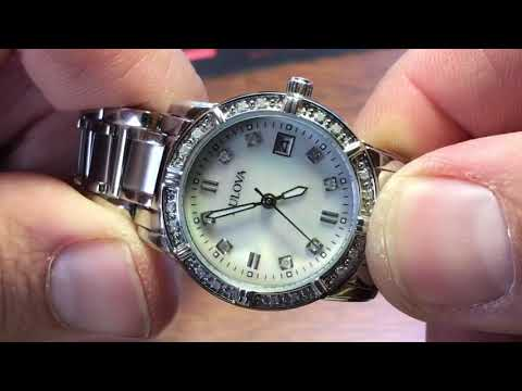 Women's Bulova Mother Of Pearl Diamond Watch Review