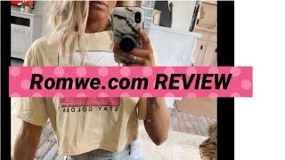 Romwe shopping haul review   cheapest online clothing store   Romwe screenshot 2