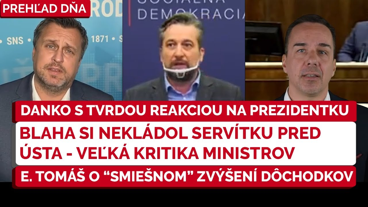 Download ⚠️A. Danko a tvrdé hodnotenie prezidentky SR   Ľ. Blaha SMER SD naložil vládnym predstaviteľom