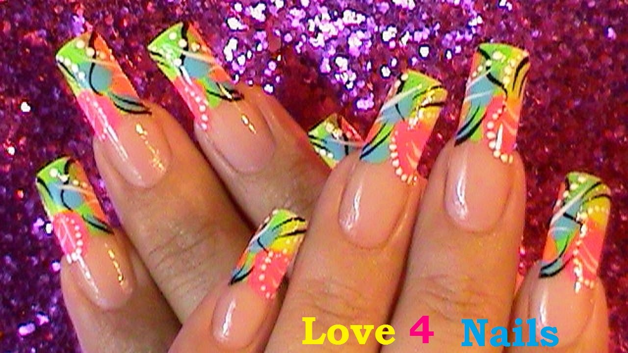 FreeStyle Nail Art! - YouTube