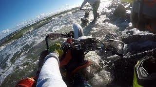 Enduro : Topimy motocykle w morzu Bałtyckim...