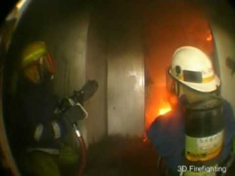 Compartment Fire Behaviour Training in a real structure