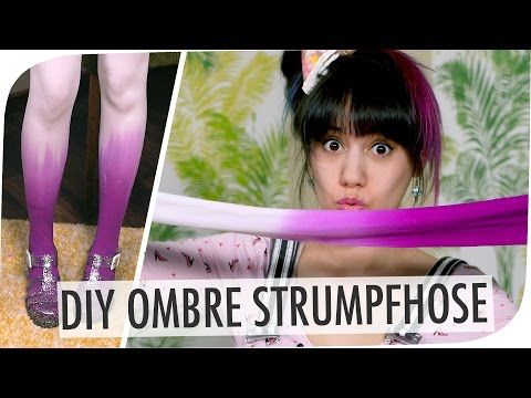 Ombre Strumpfhosen DIY I mit breedingunicorns I #flipdiy