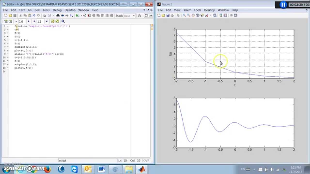 Matlab exercise plot continuous signal youtube matlab exercise plot continuous signal ccuart Choice Image